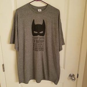 $3/18 Batman Mens 2XL Gray Short Sleeve Tee